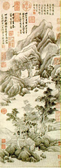 Paesaggio a china di Dǒng Q�chāng (1555–1636)