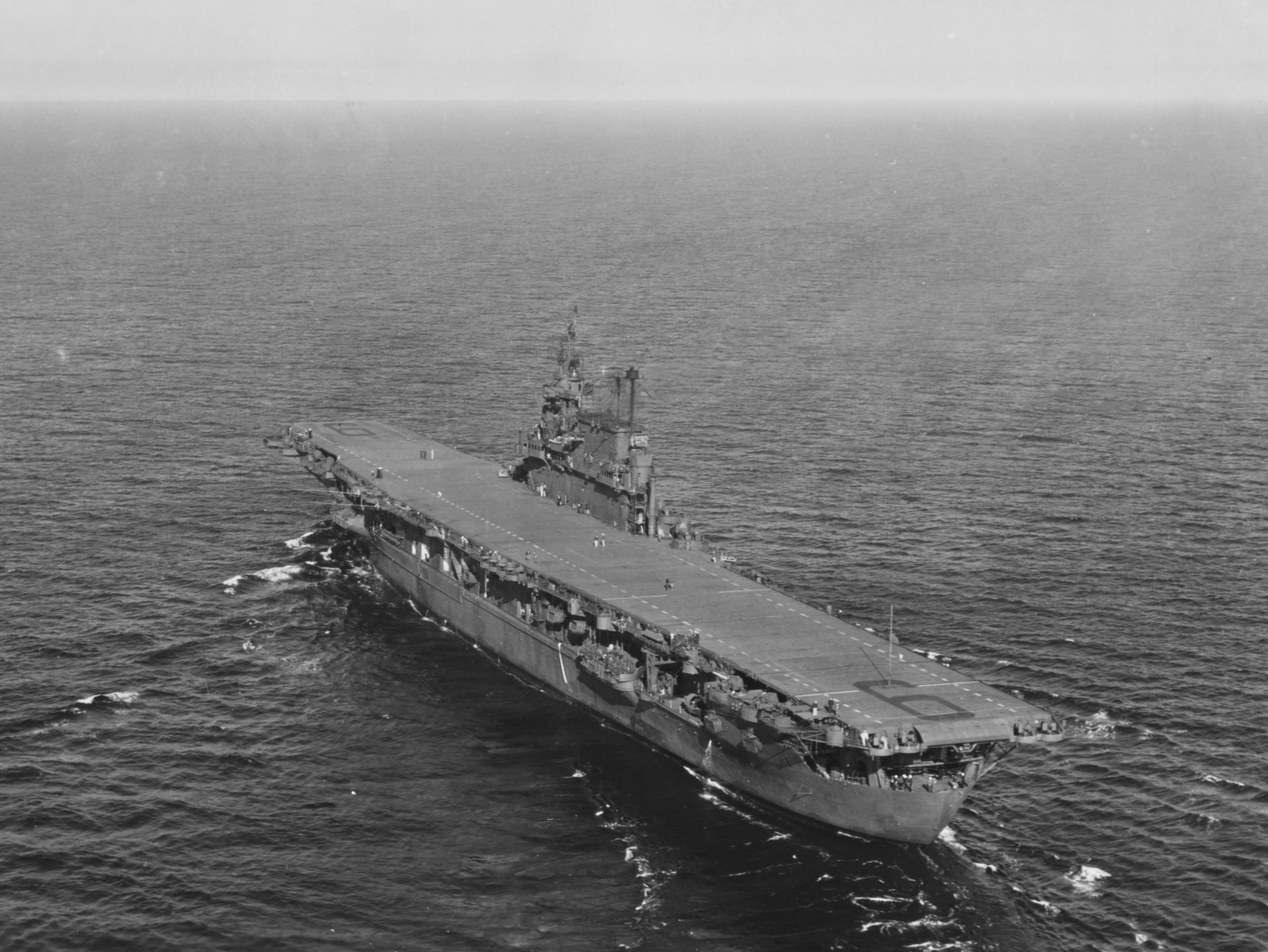 file uss enterprise  cv-6  underway in puget sound  13 september 1945 jpg