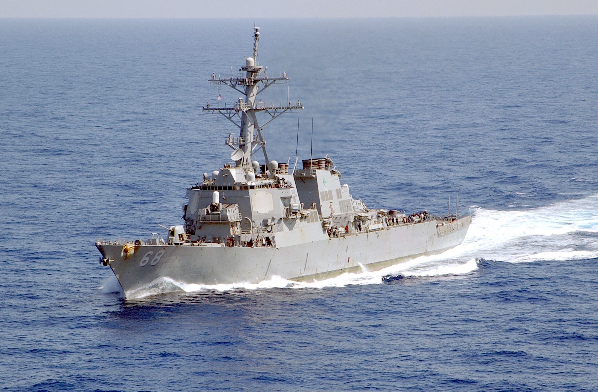 USS The Sullivans in the Mediterranean Sea.