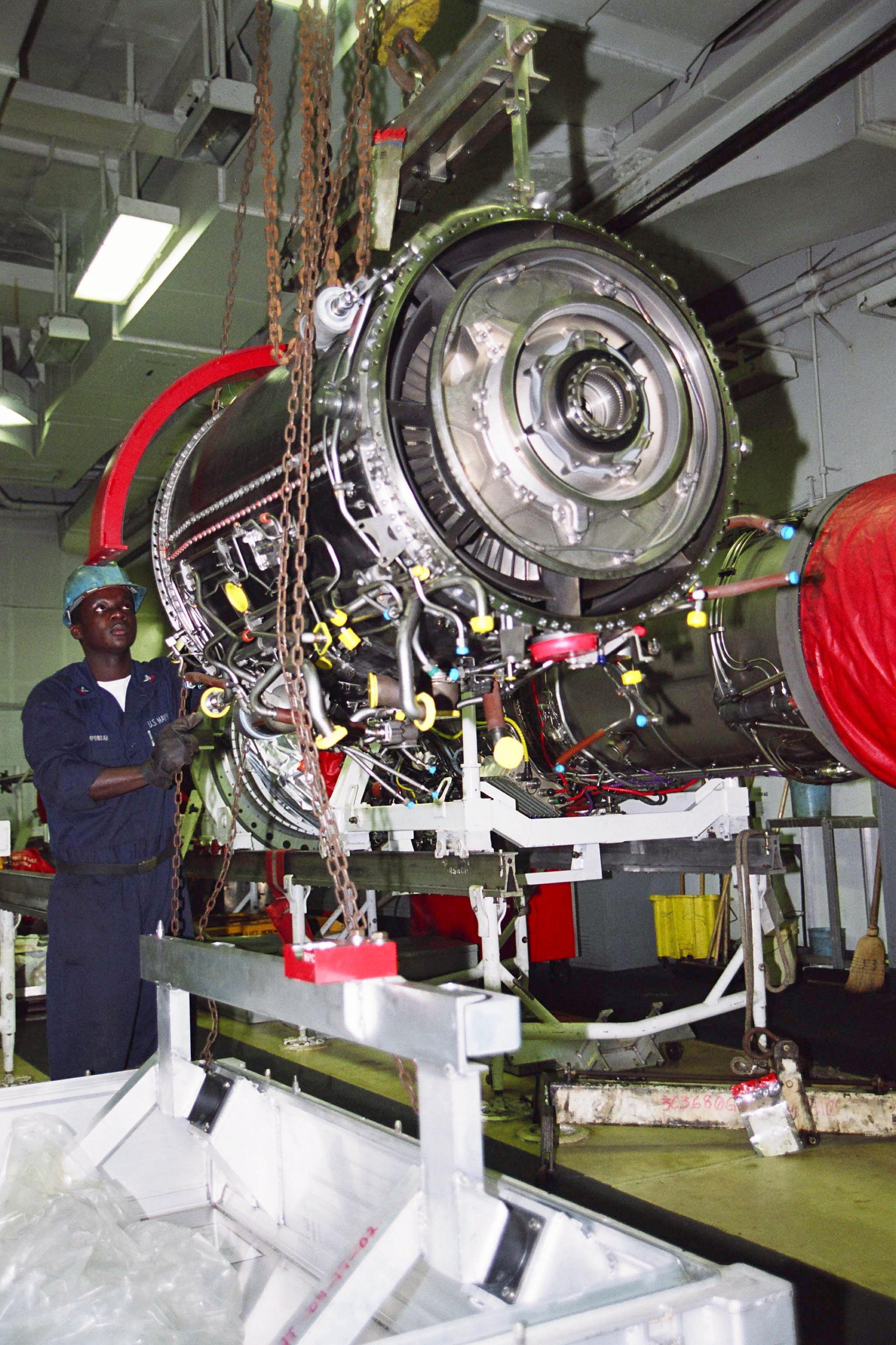 File US Navy N 5114J 003 GE 414 Jet Engine shipping
