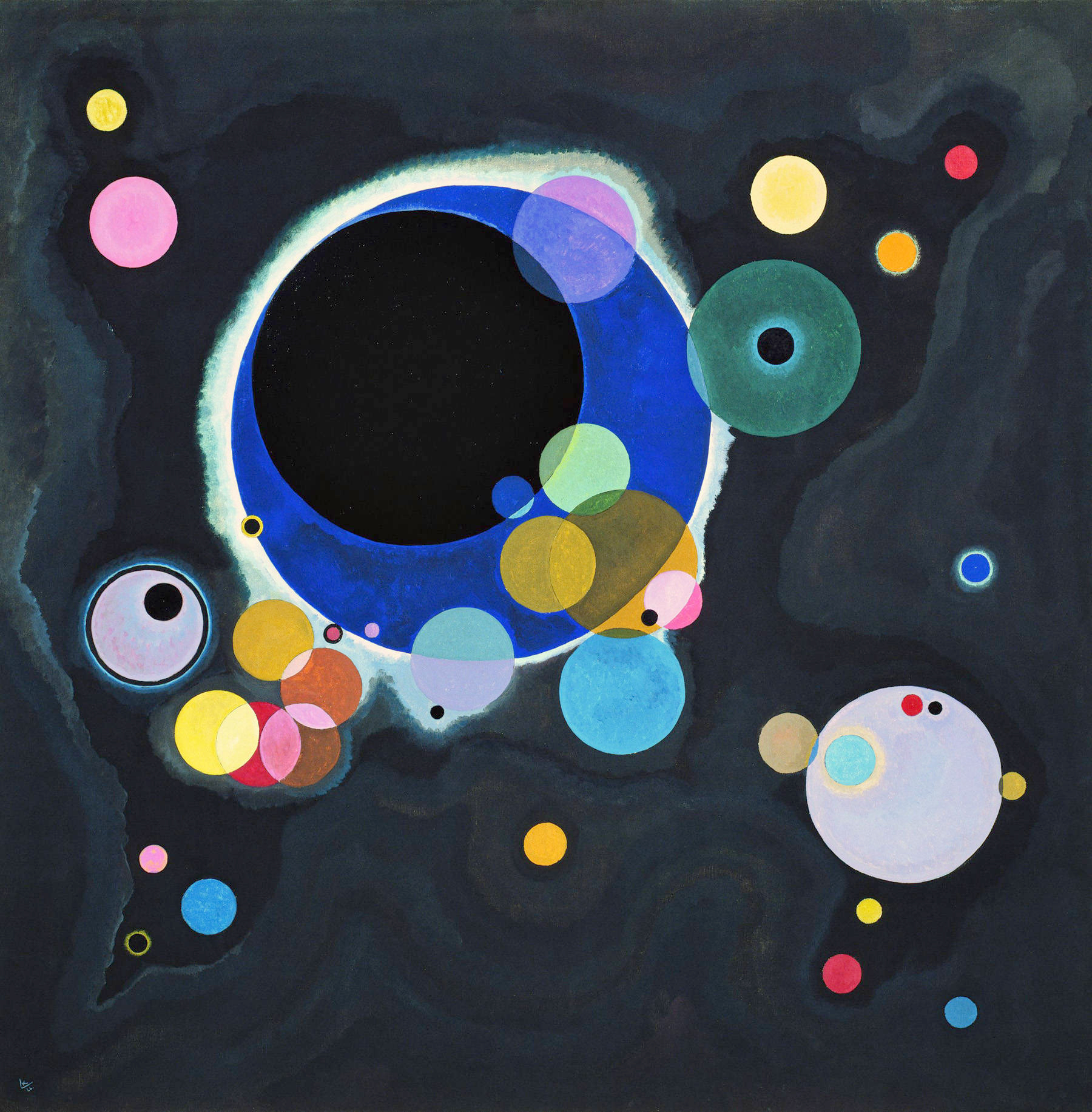 Some circles, by Kandinsky