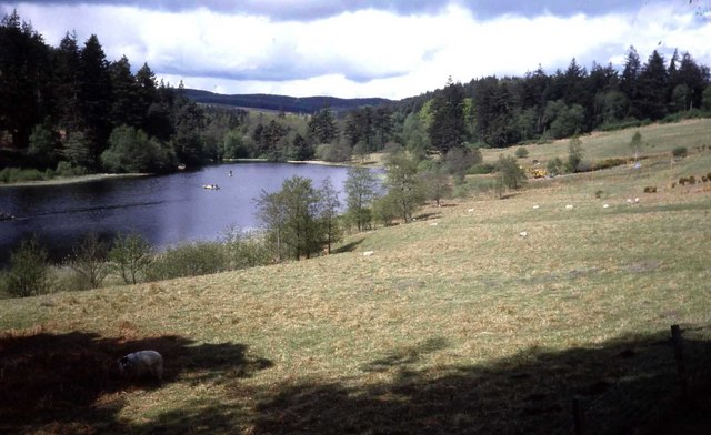 View from Home Farm towards Tumbleton Lake - geograph.org.uk - 475098