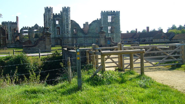 View of Cowdray ruins seen from the New Lipchis Way - geograph.org.uk - 986347