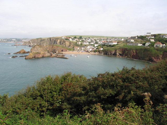 View over Hope Cove towards Outer Hope - geograph.org.uk - 751625