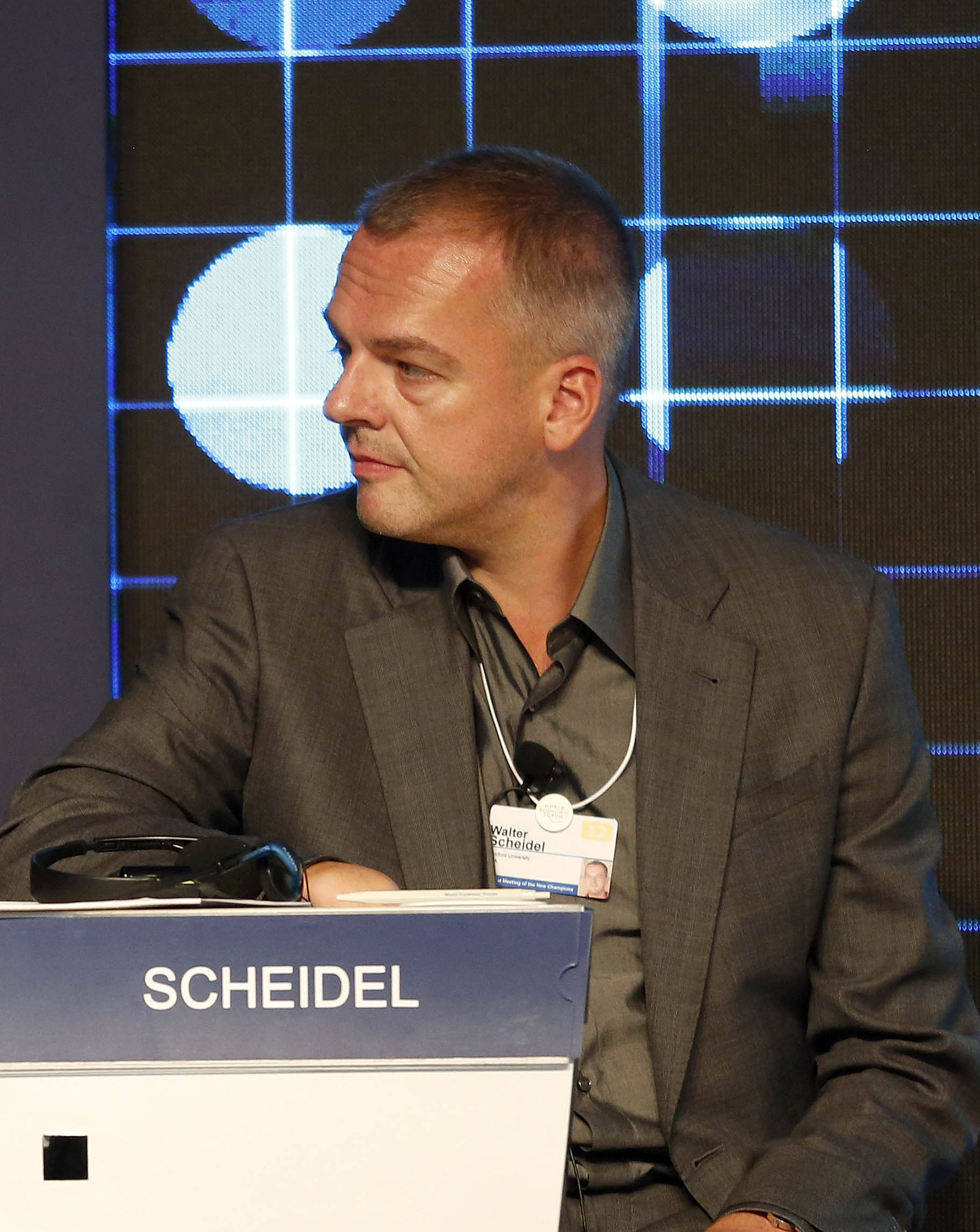Scheidel at the [[World Economic Forum]] Annual Meeting of the New Champions in 2012