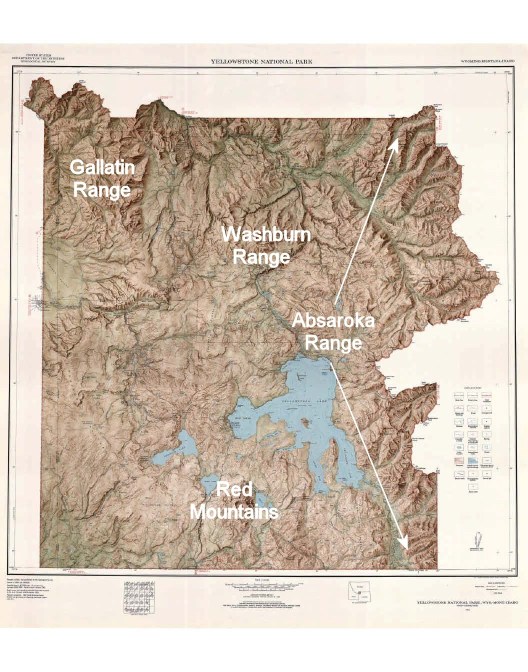 List Of Mountains And Mountain Ranges Of Yellowstone