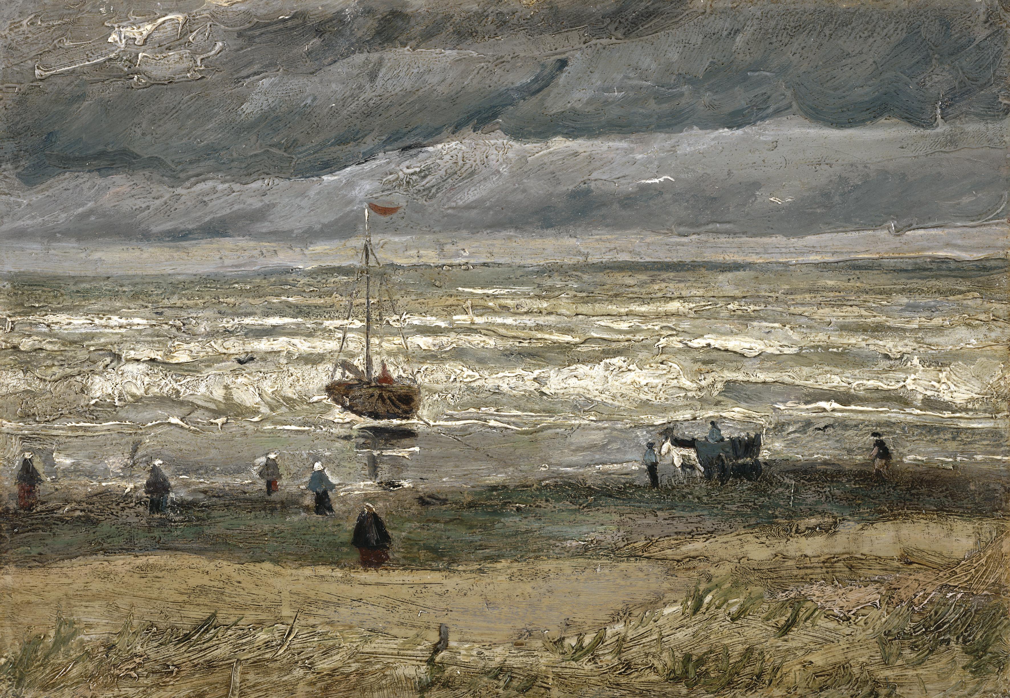 Beach at Scheveningen in Stormy Weather - Wikipedia