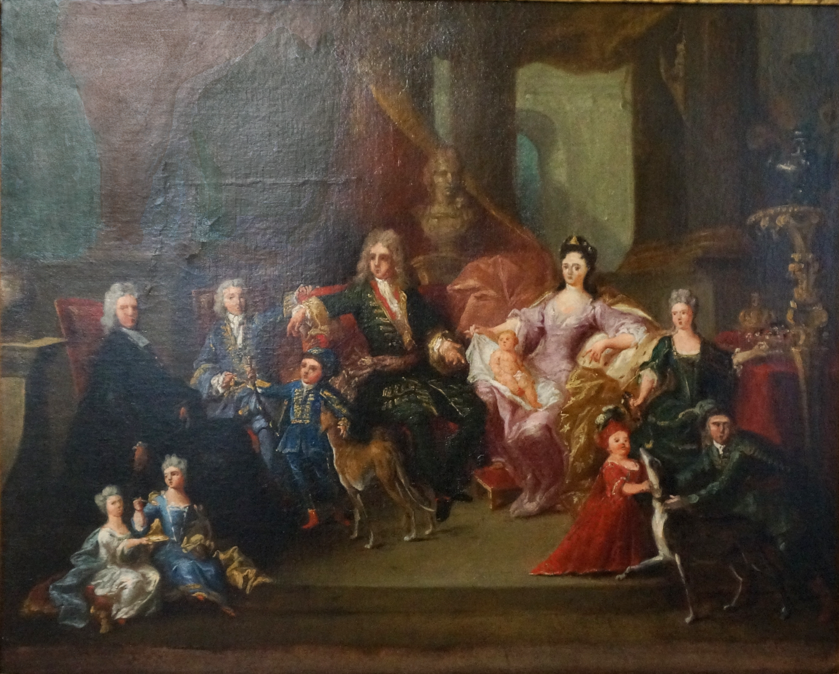 File:(Cropped) Family of Léopold I of Lorraine in circa 1710 attributed to