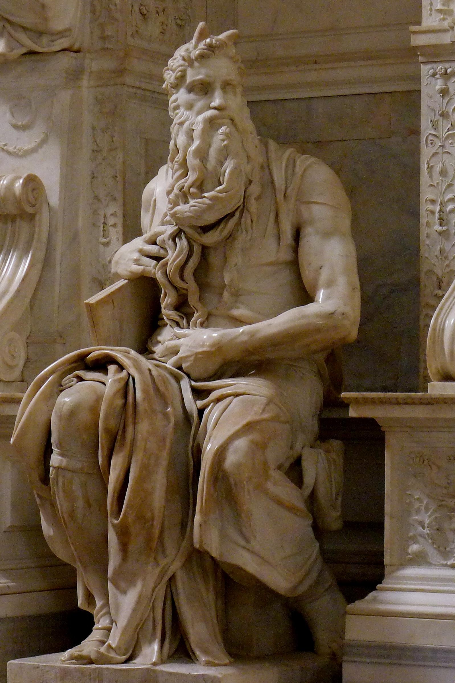 Moisés com cornos