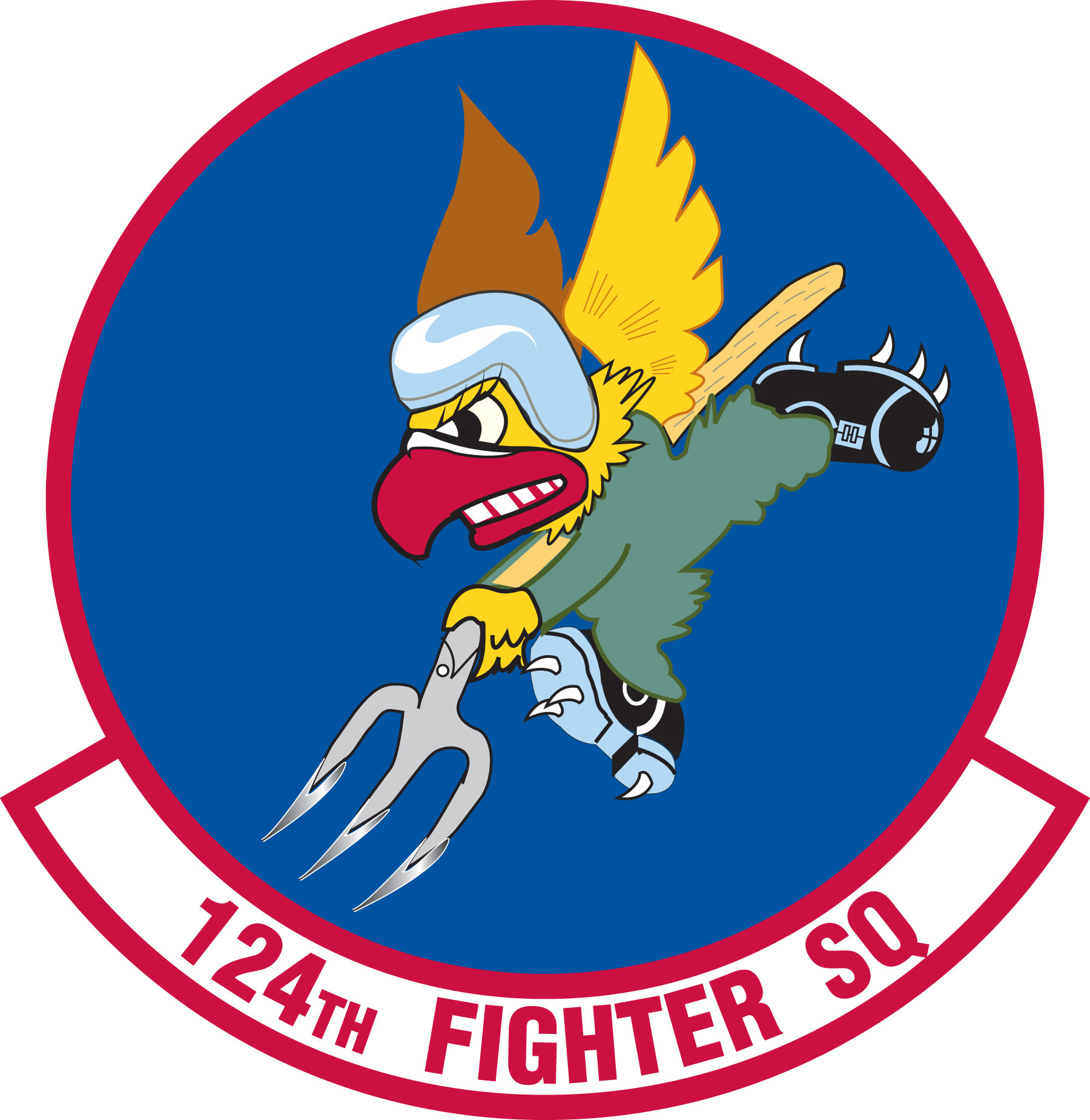 Fighter Squadron Logo 124th Fighter Squadron Emblem