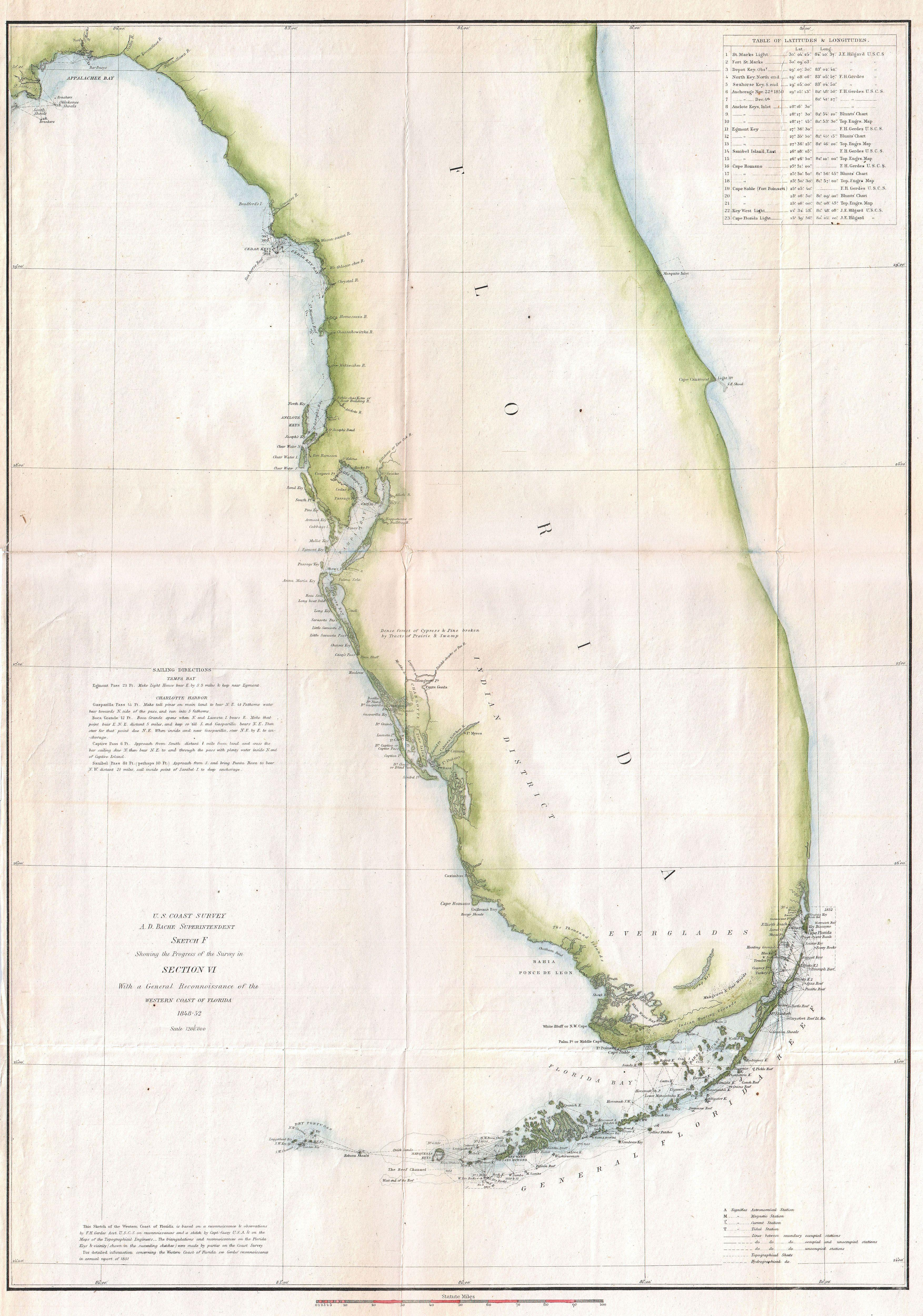 File US Coast Survey Map Of Florida Geographicus - Map 0f florida