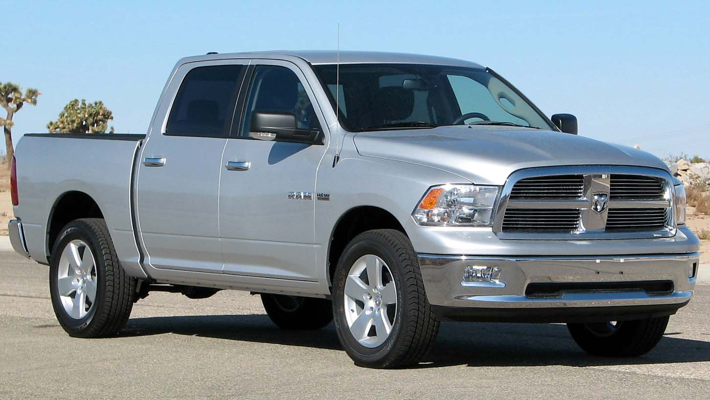 Description 2009 Dodge RAM 1500 SLT 4-door pickup -- NHTSA 01.jpg