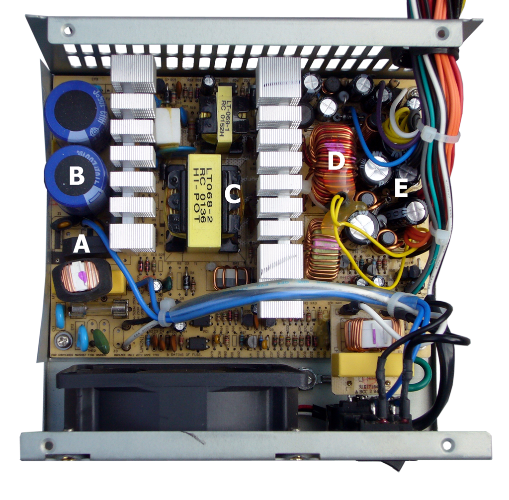 Atx Power Supply Interior Px Transparent