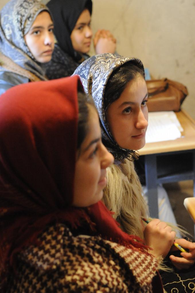Afghani girls at school.