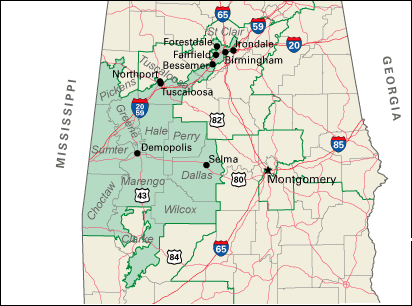 Alabama's 7th congressional district map