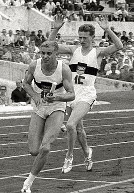 Armin Hary (links) en Bernd Cullmann in 1960