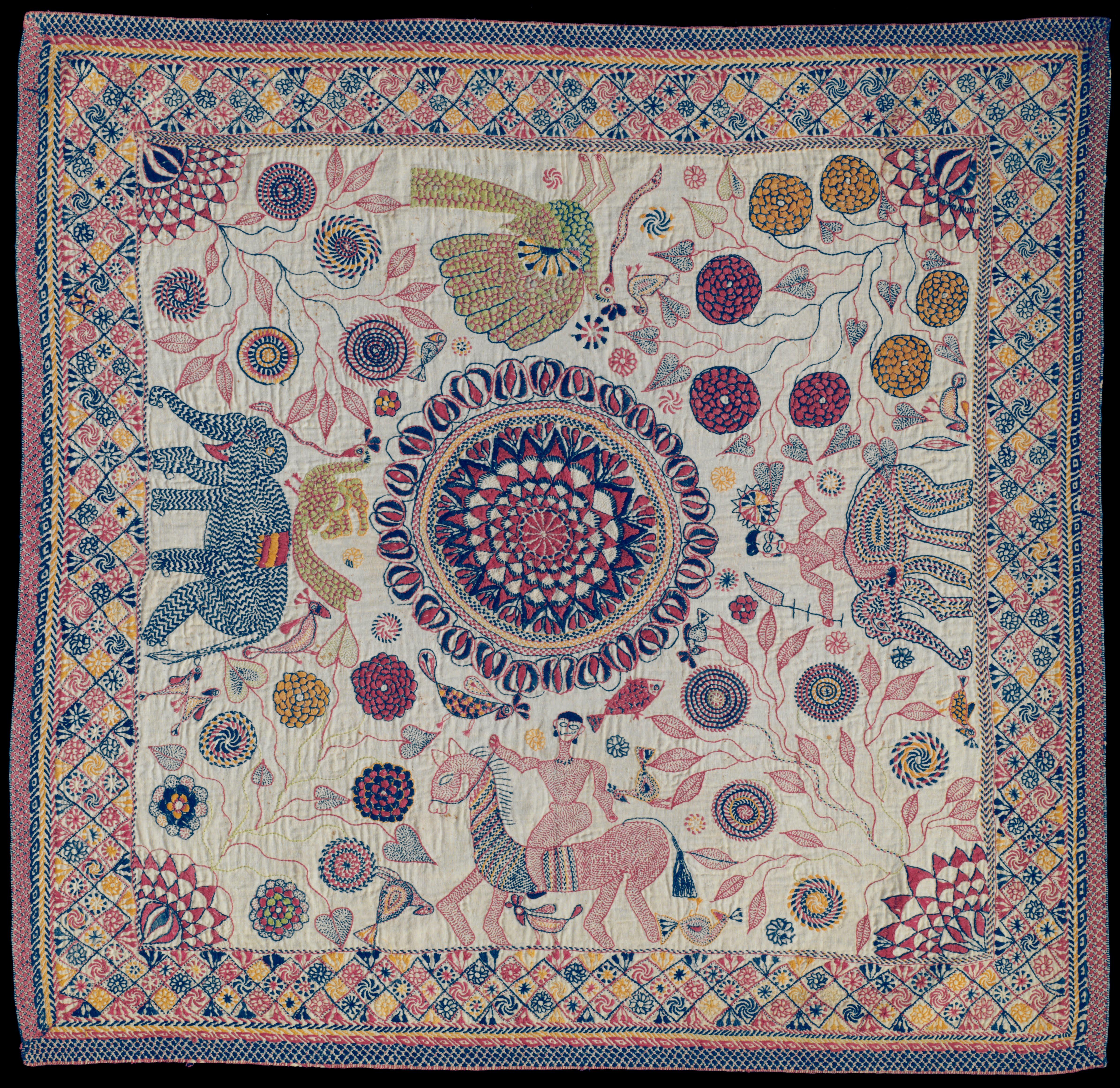File Artist Maker Unknown Bengali Kantha Embroidered