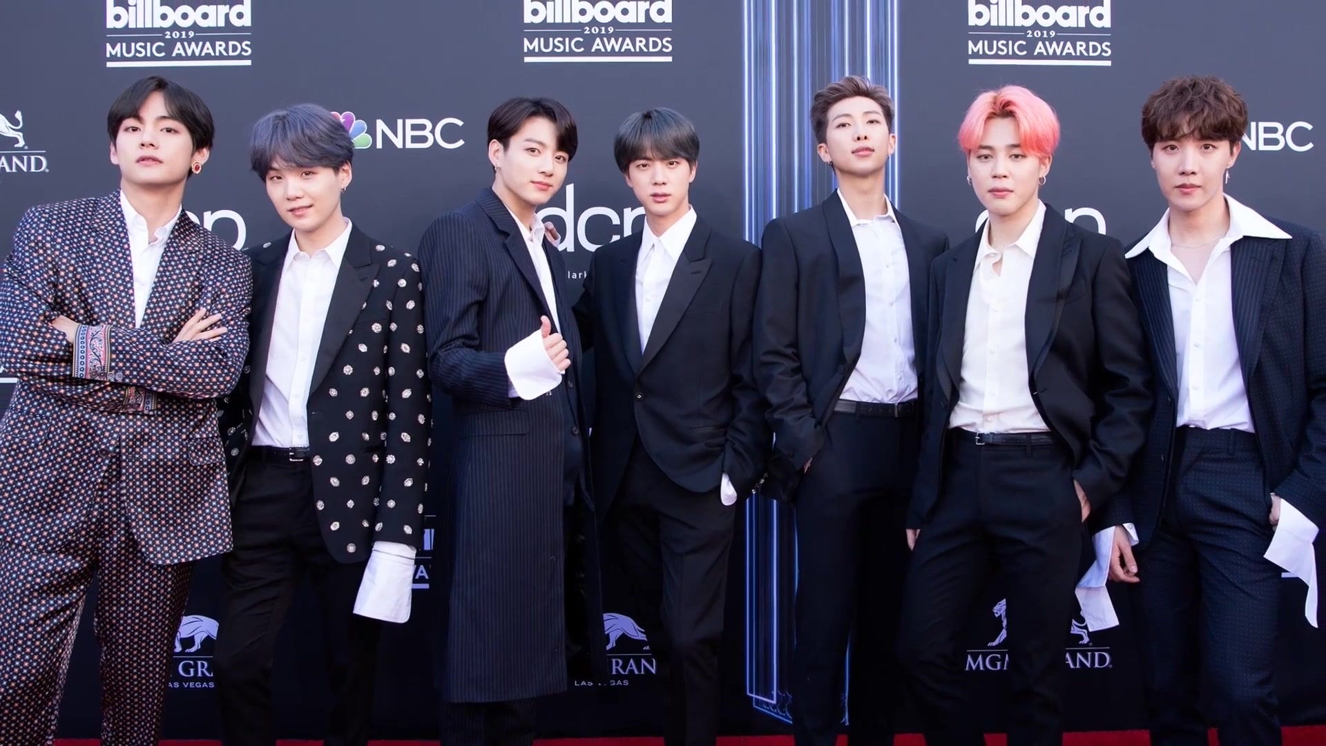 BTS on the Billboard Music Awards red carpet%2C 1 May 2019