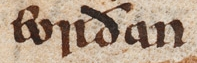 "An early mention of ""eorðan"" (earth) in Beowulf"