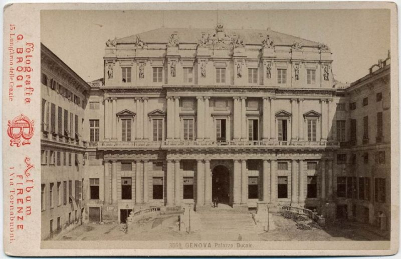 Ancienne photo du Palazzo Ducale à Gènes.