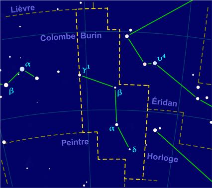 Carte pour la constellation Burin Produite à l'aide du logiciel PP3 - Grum / Orthogaffe / Korrigan - Wikimedia Commons