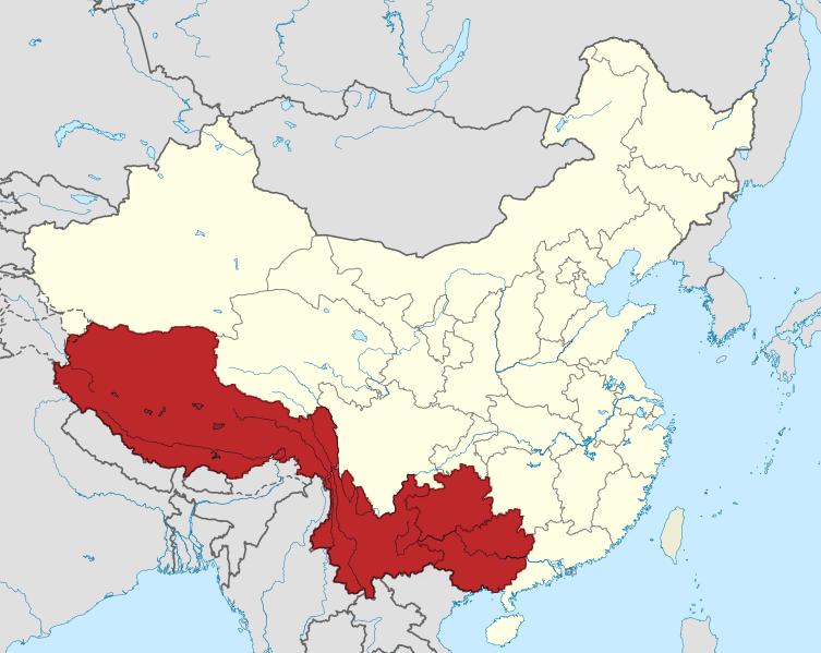 File China Location Map Southwest China Png Wikimedia Commons