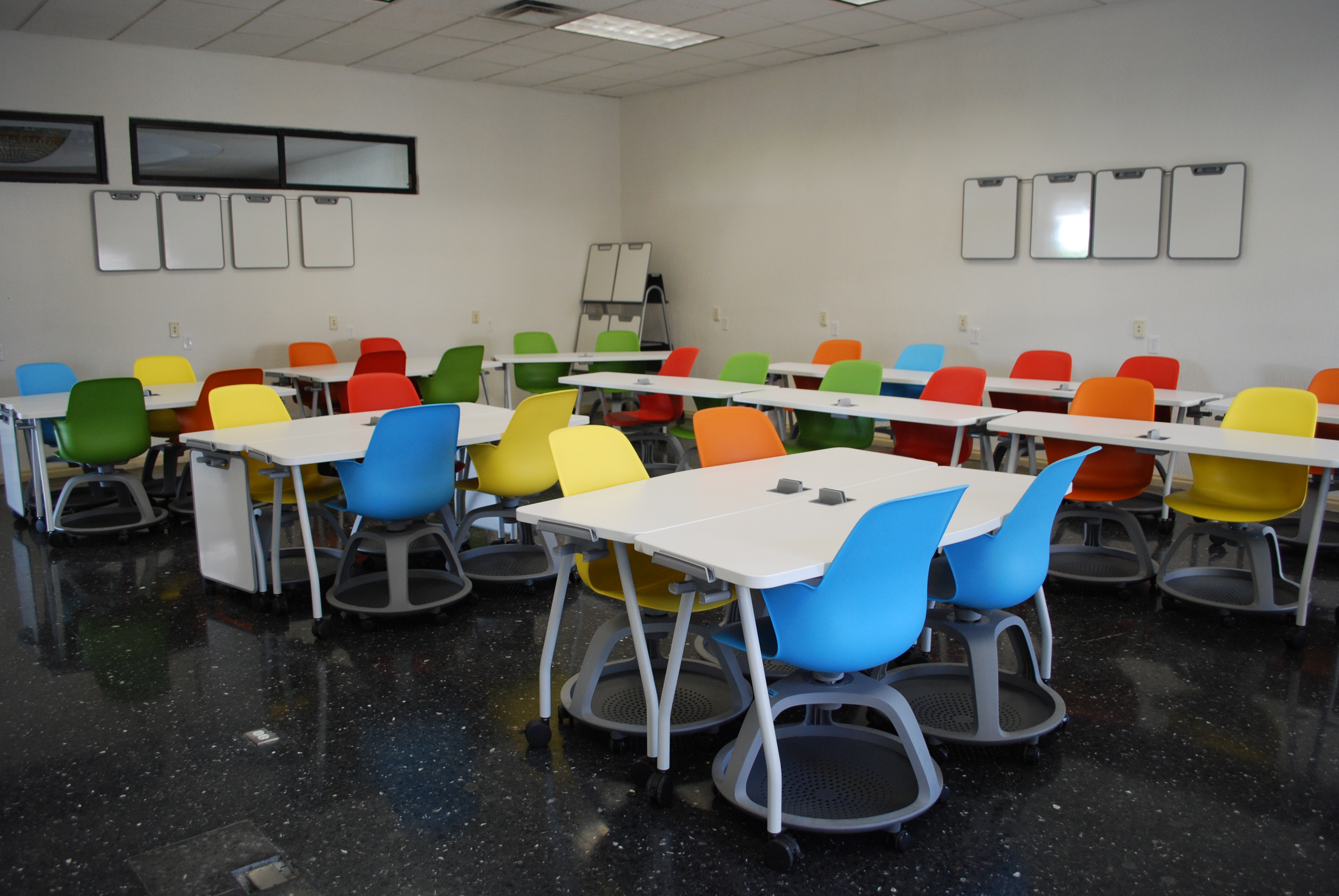 Modern Classroom Seating ~ Researchers recommend features of classroom design to