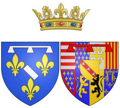 File:Coat of arms of Marie of Guise (mother of Mary, Queen of Scots) as Duchess of Longueville.png