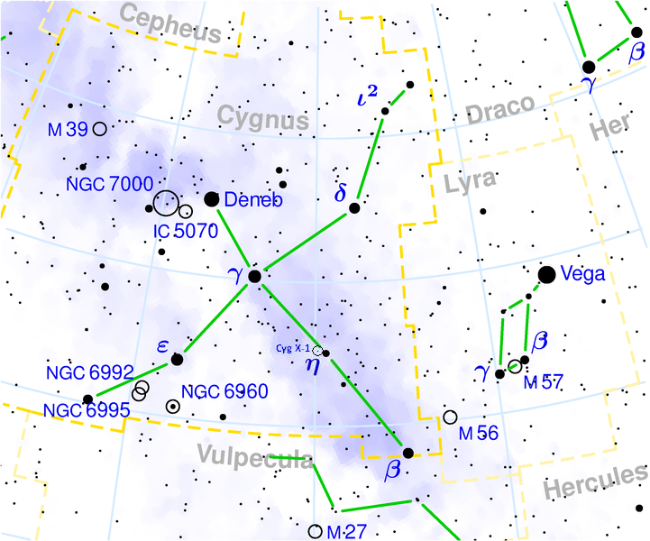 File Cygnus Constellation Map With Approximate Postion Of