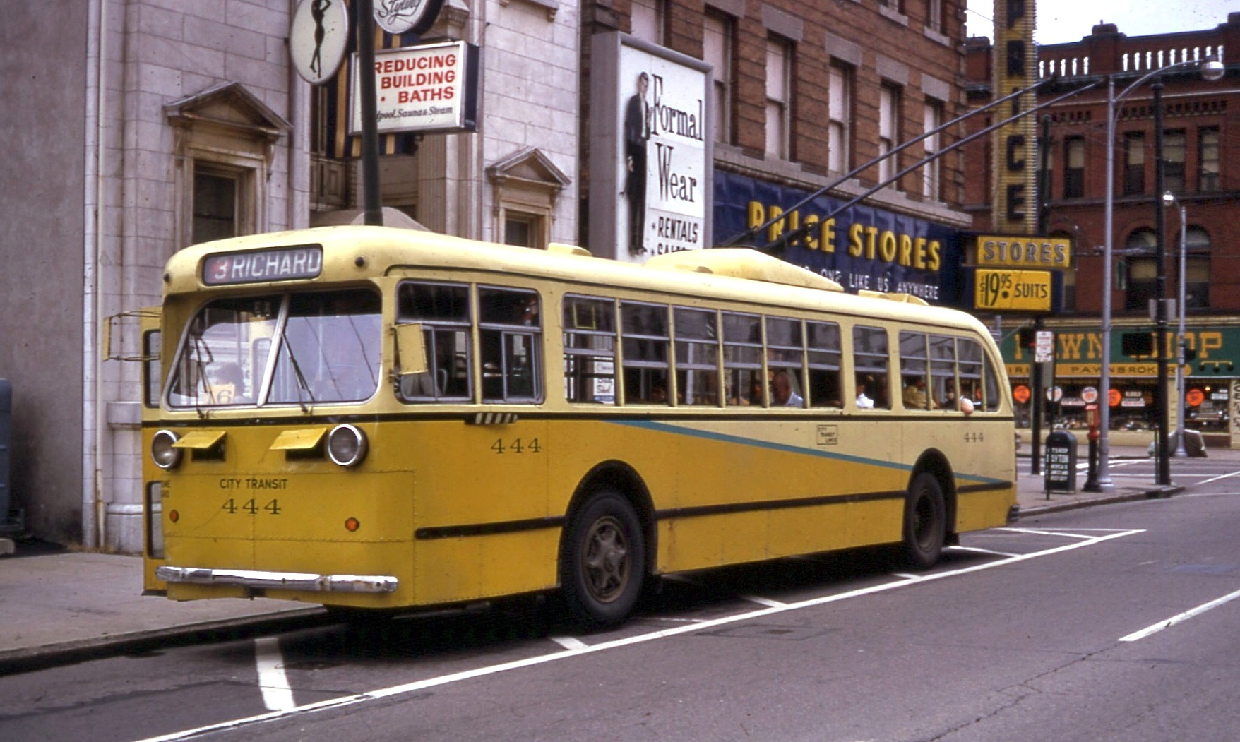 File Dayton Pullman Trolley Bus Jefferson Amp 4th 1968 Jpg