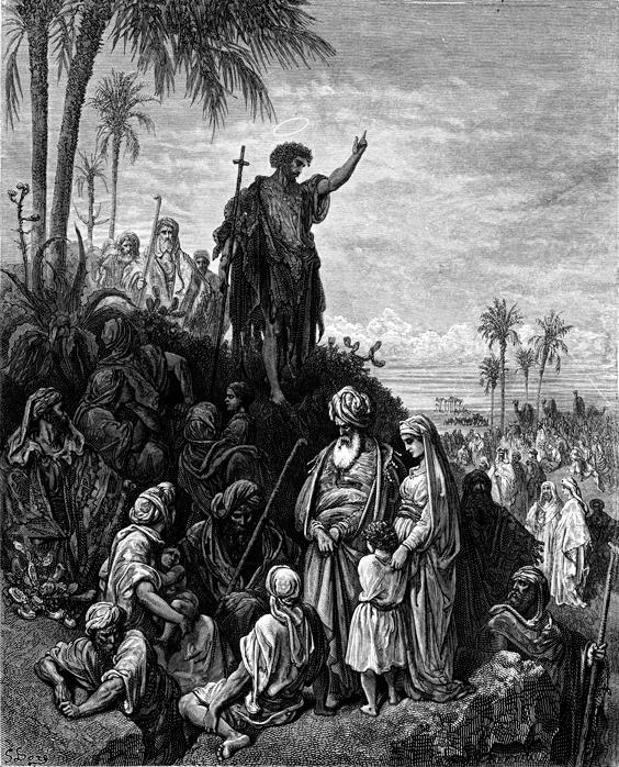 회개를 외치는 세례 요한 (귀스타브 도레, Gustave Dore, 1866년)