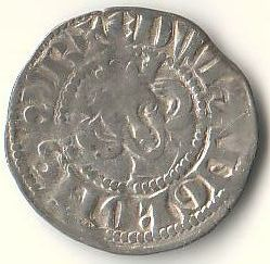 An Edward I silver penny from Lincoln; Edward increased the controls on the minting of coins begun under Henry II, creating the Master of the Mint.
