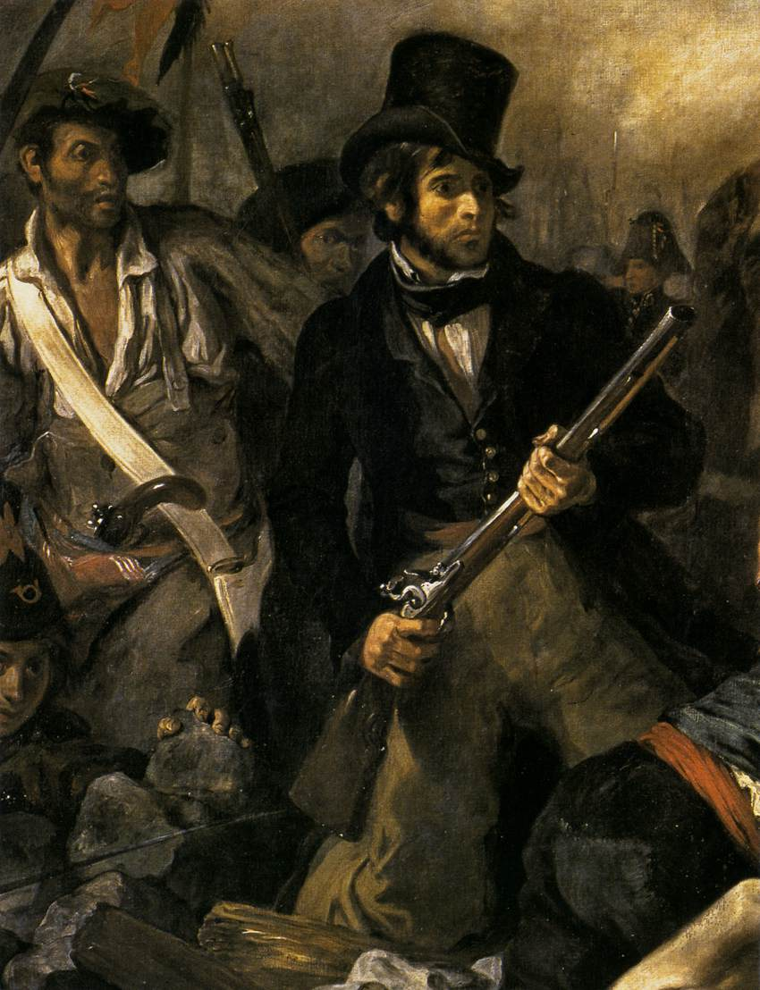 romanticism and liberty leading the people In this lesson, explore the work of french romantic artist eugene delacroix, a man not afraid of courting controversy learn how he composed his paintings and used color to emphasize action.