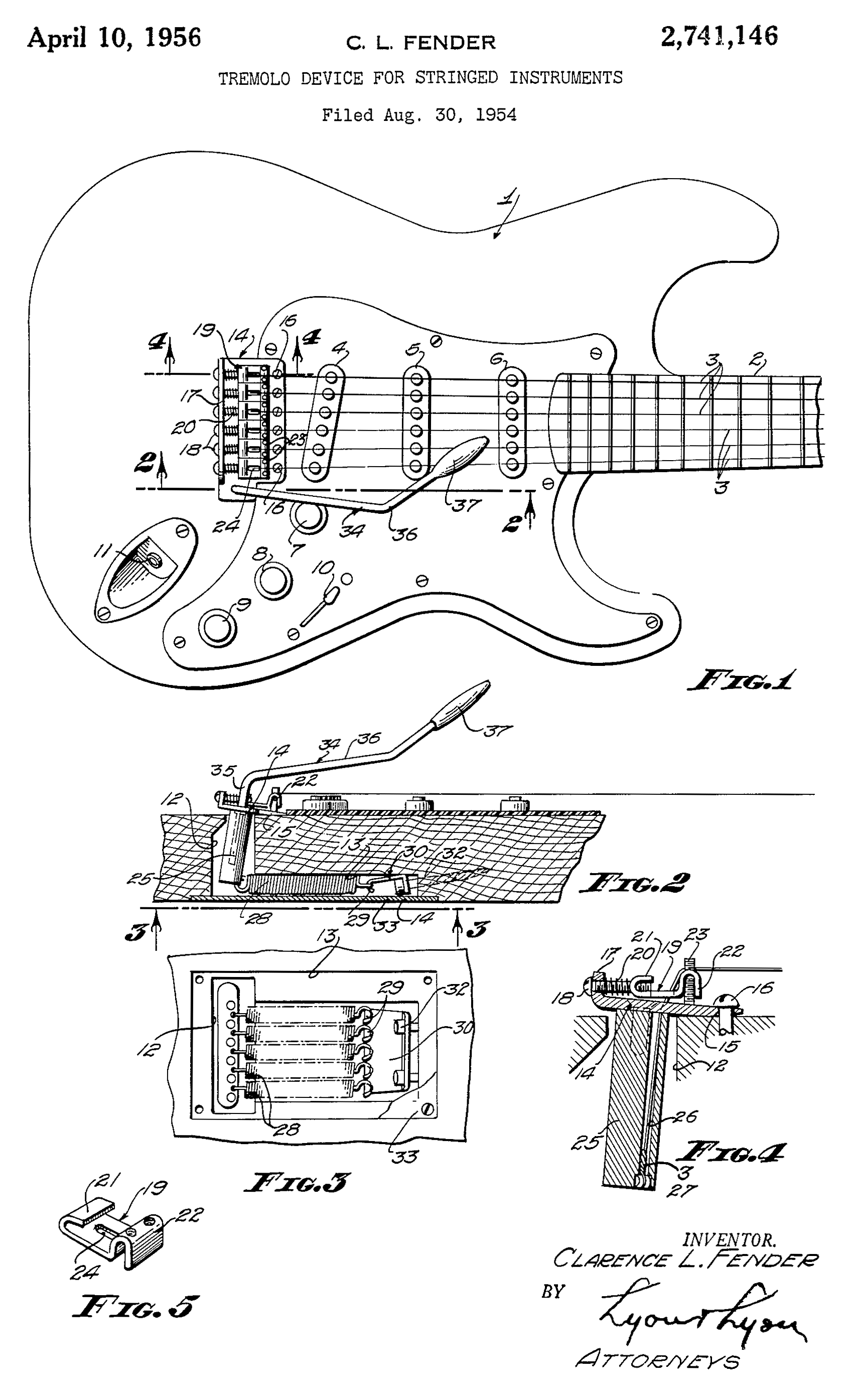 File:FenderTremoloPatentDiagram on Fender Telecaster Wiring Diagram