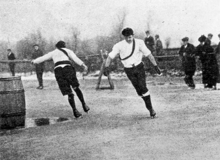 Cambridgeshire 1891 Skating match at Littleport final heat J Smart /& T Wells