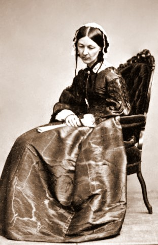 Florence Nightingale by Kilburn c1854 %Category Photo