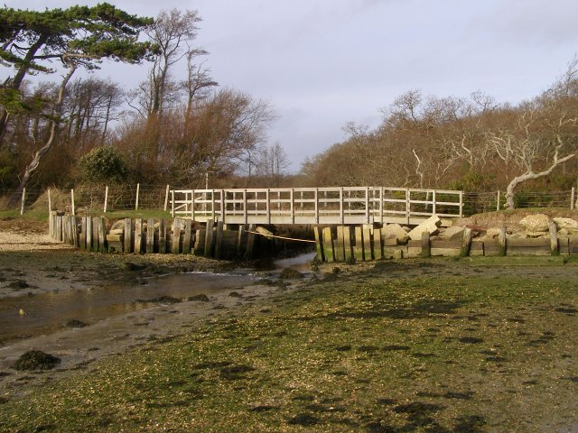 Footbridge over Plummers Water, New Forest - geograph.org.uk - 302662