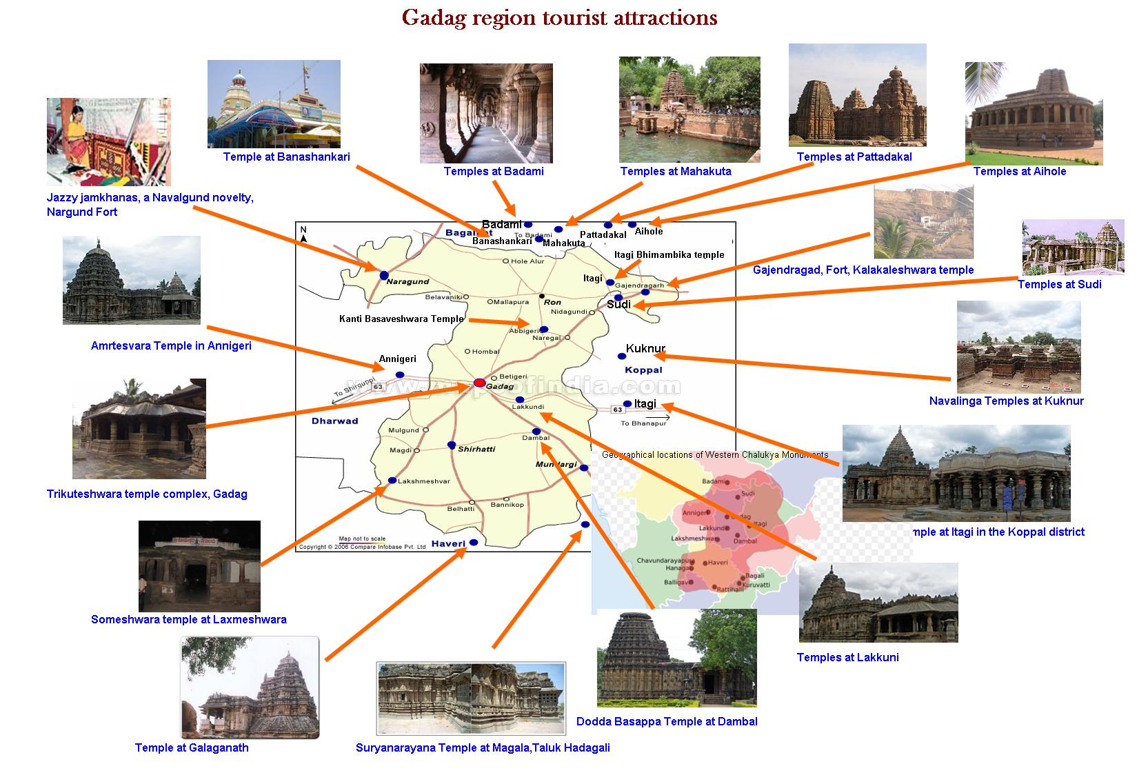 Gadag India  city pictures gallery : Gadag Region Tourist Map Wikipedia, the free encyclopedia