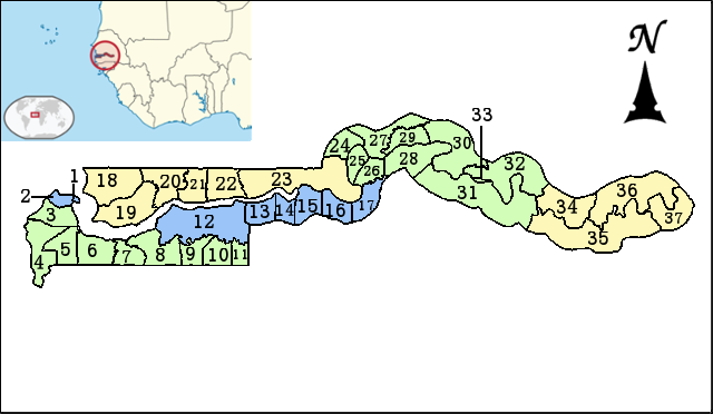 FileGambia map Divisions districtspng  Wikimedia Commons