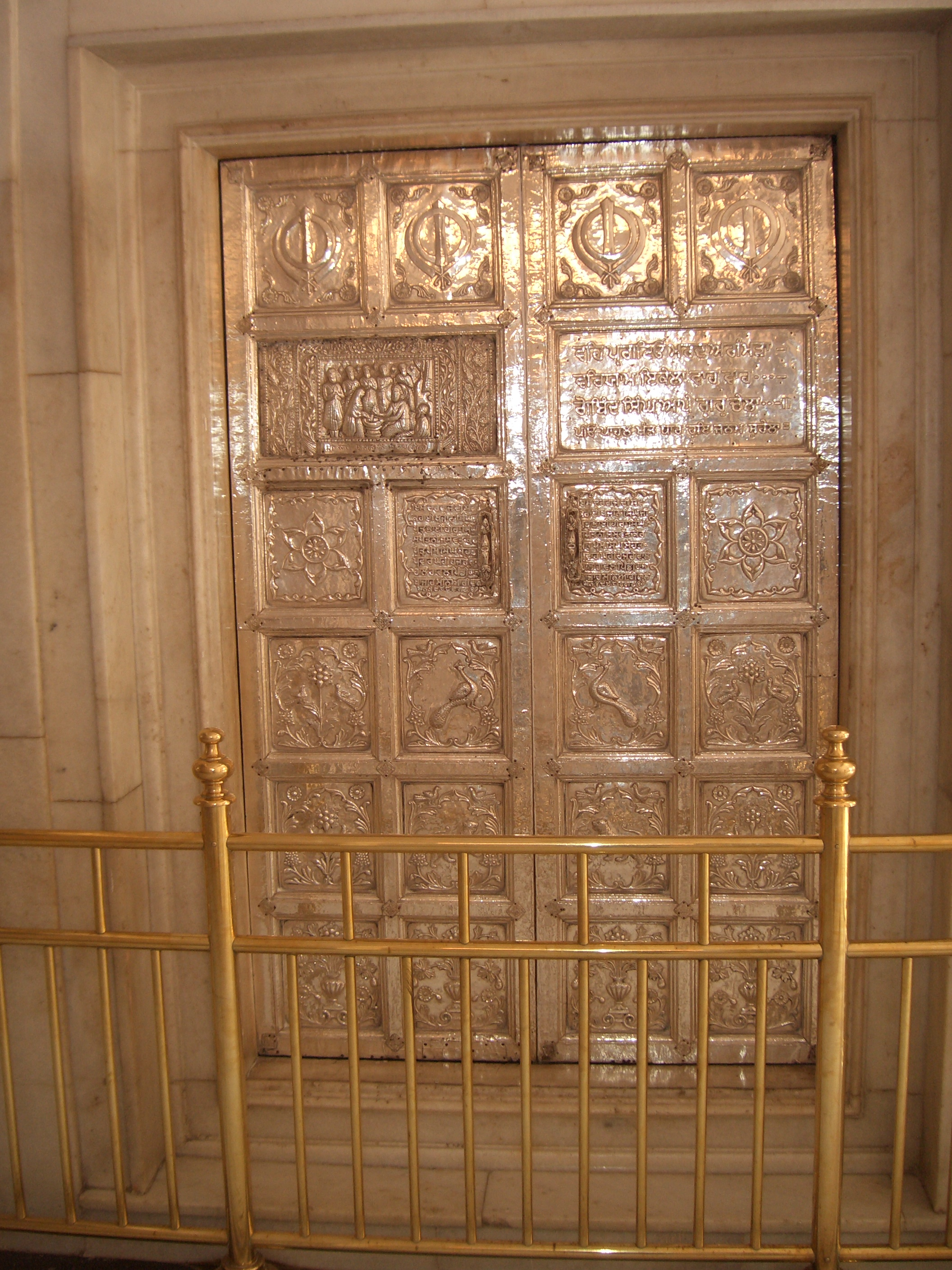 File:Golden doors depicting the history of the Khalsa ...