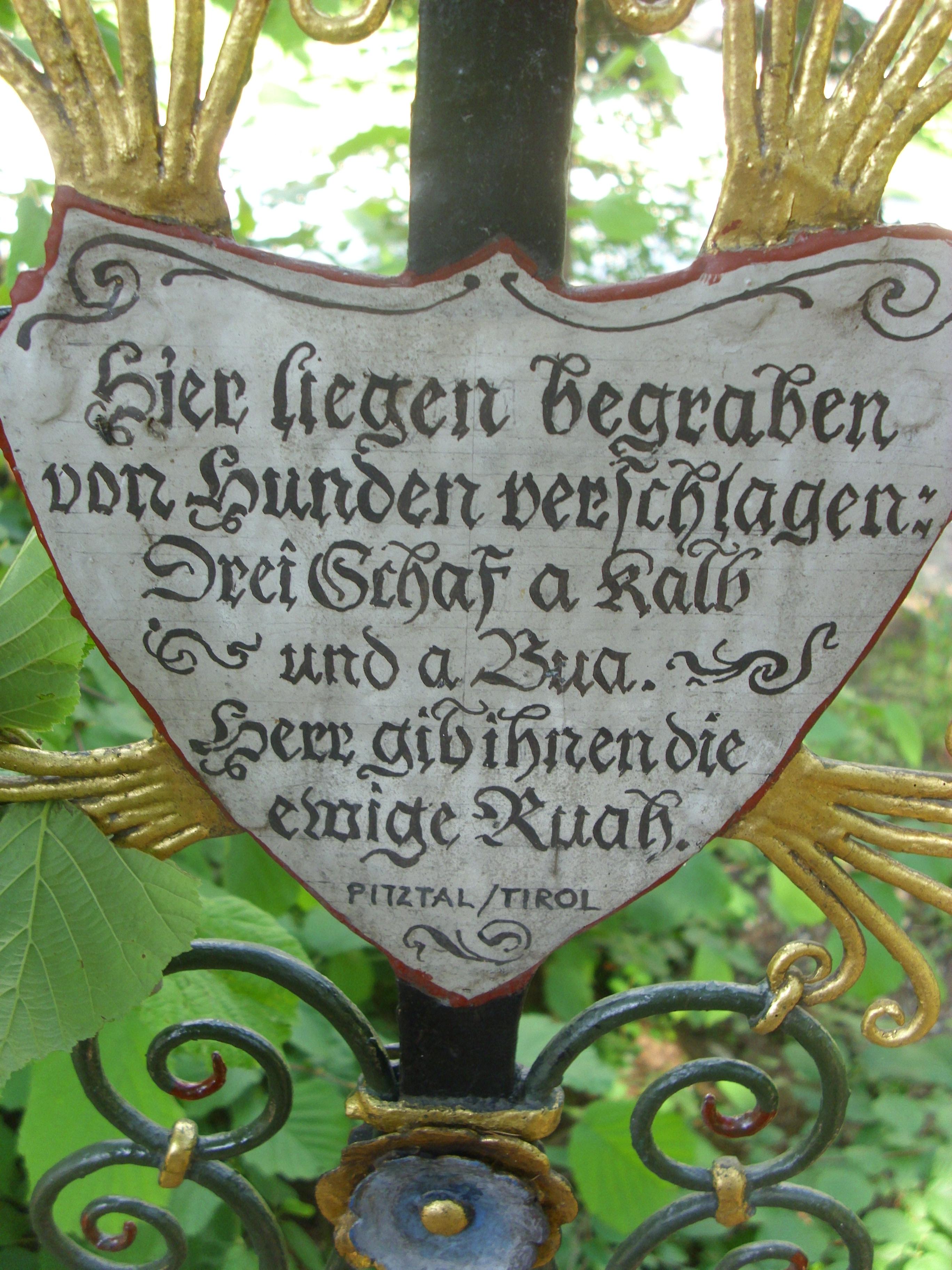 Filegrabkreuz Des Museumsfriedhof In Kramsach15jpg Wikimedia Commons