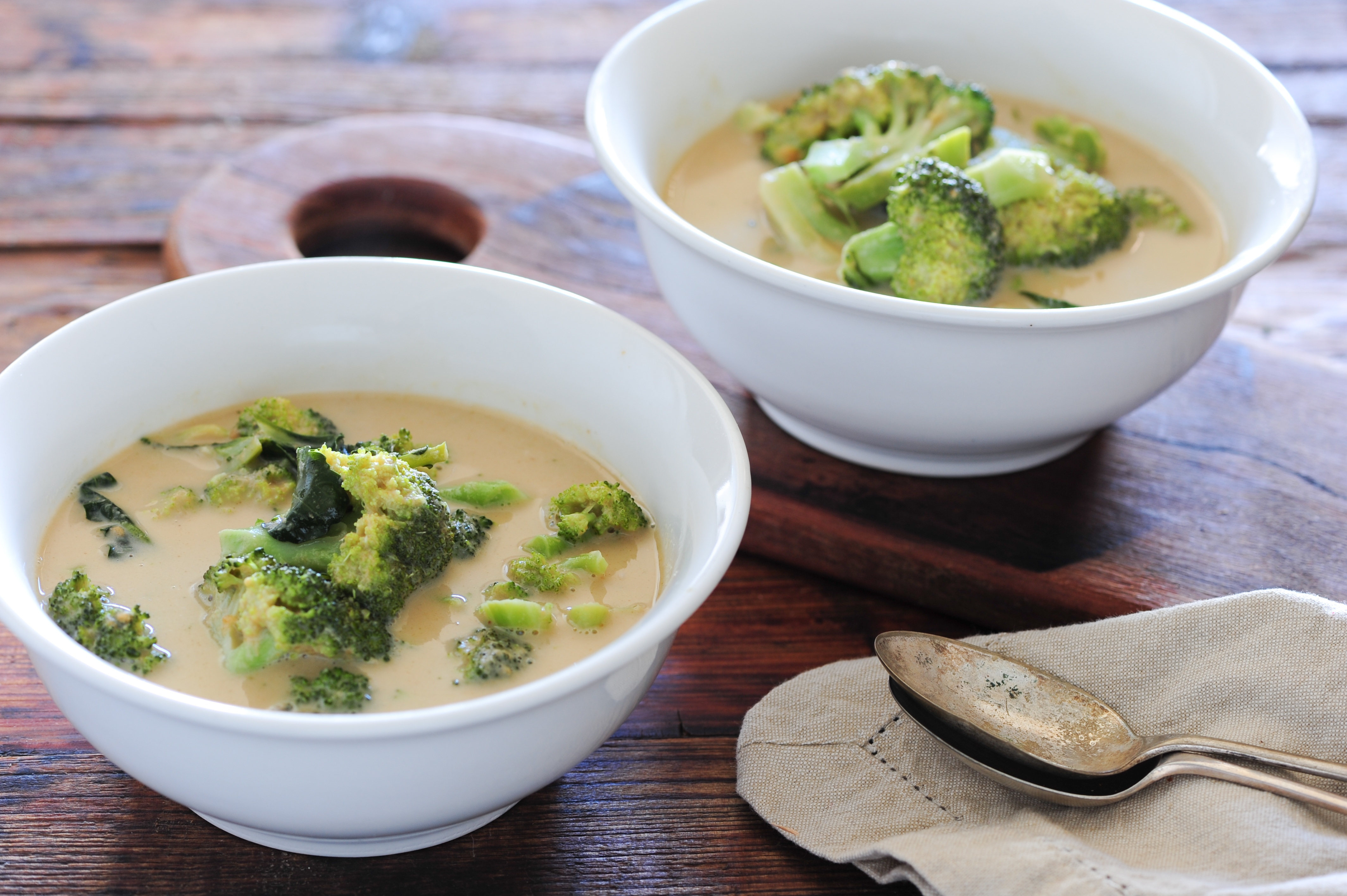green vinaigrette cucumber salad chicken noodle soup cream of broccoli