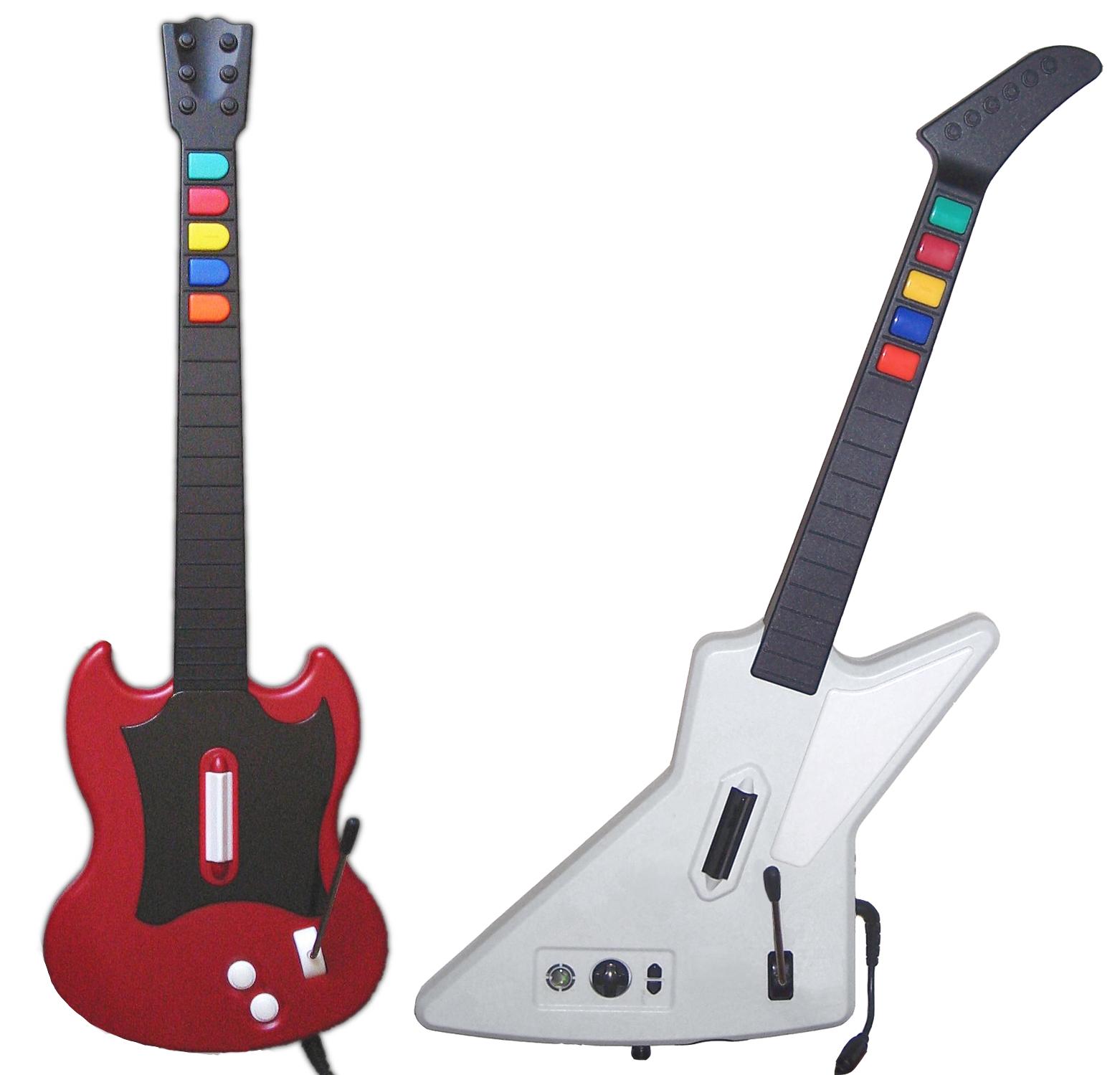 Description Guitar Hero II guitar controllers.jpg