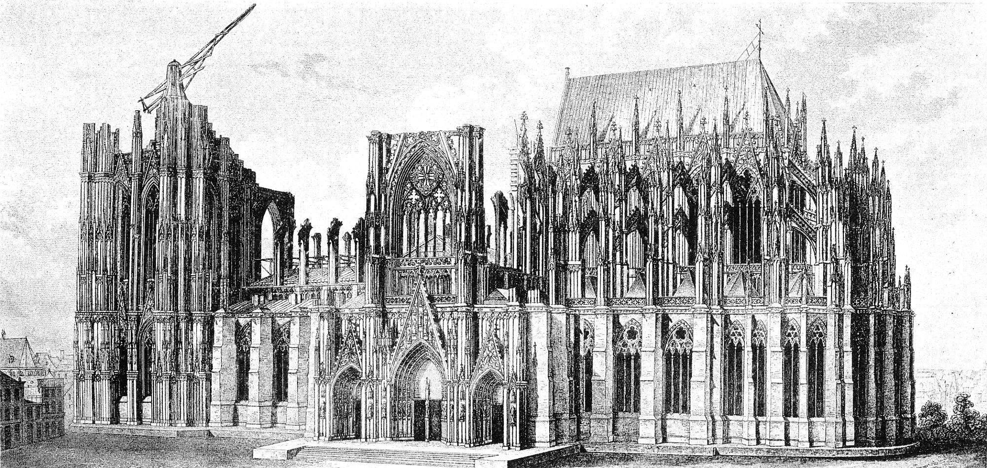 Grundriss Zeichnen File Hasak Der Dom Zu K 246 Ln Bild 22 1851 Jpg