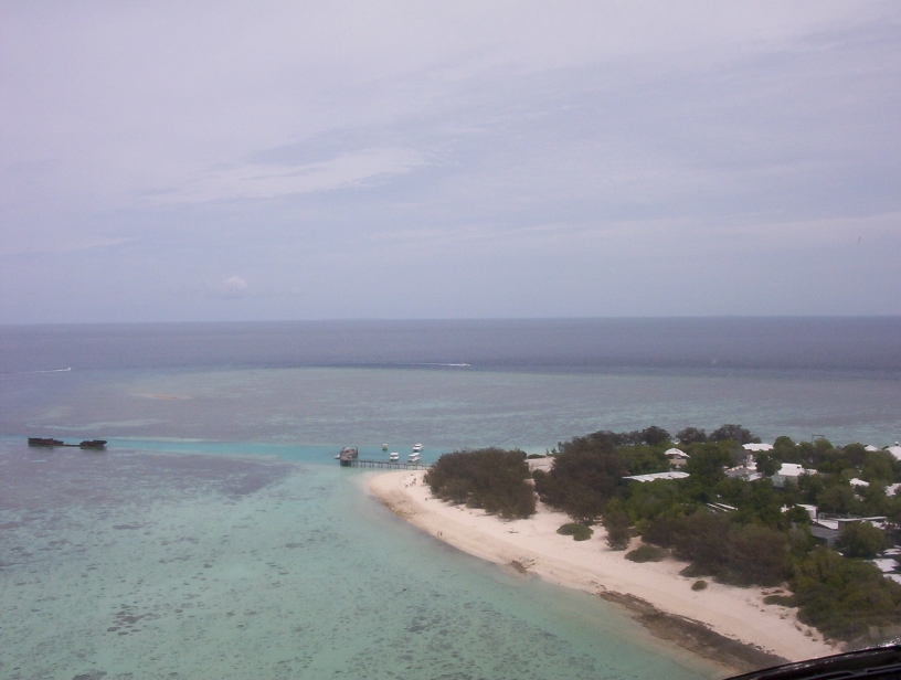 Heron Island Australia  City new picture : Heron Island, Australia Harbour and HIRS from helicopter ...