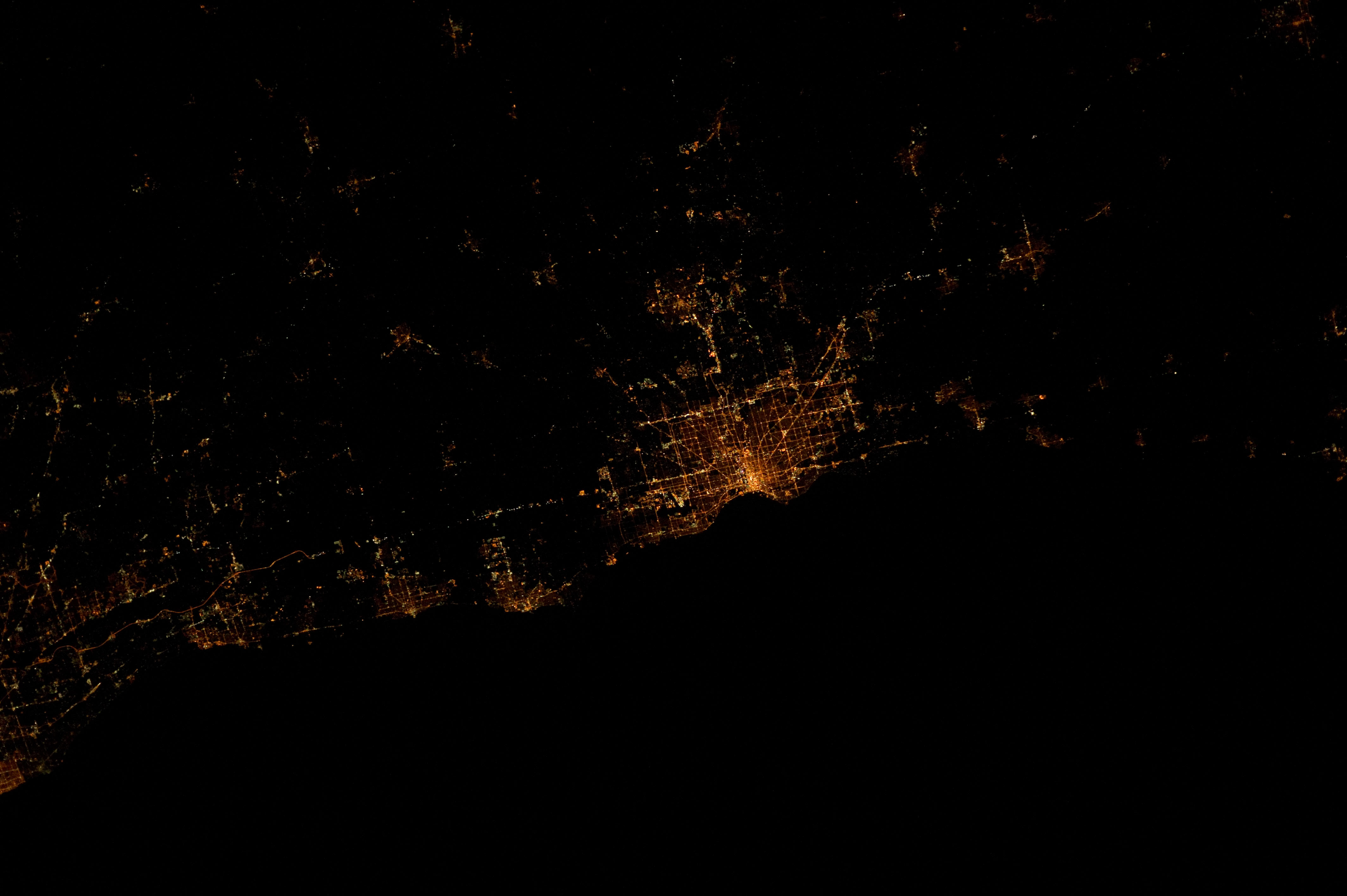 Kenosha, 11:23:40 PM CDT in 2012 during Expedition 30 at the International Space Station