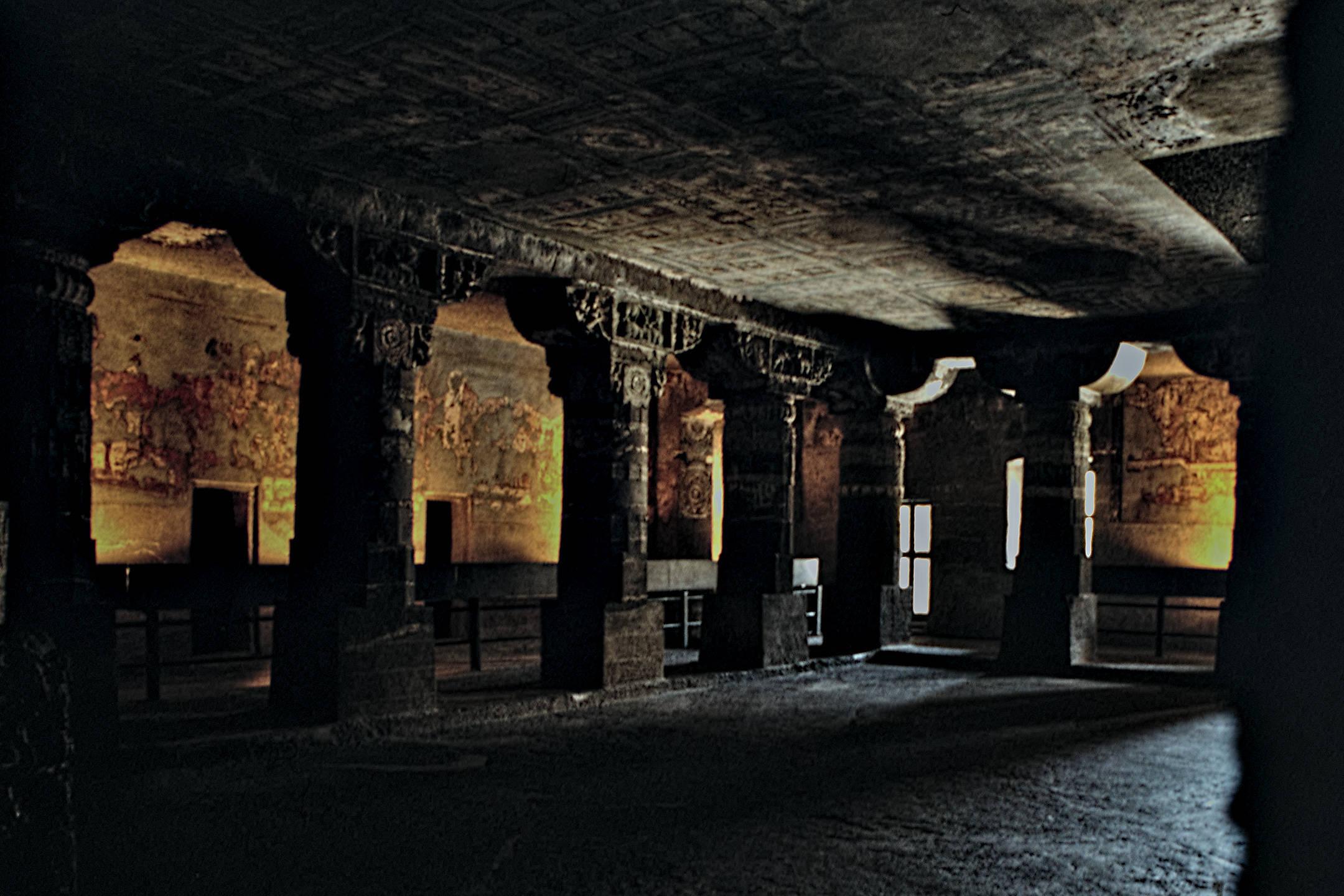 Worship Hall (Chaitya) at Ajanta Caves