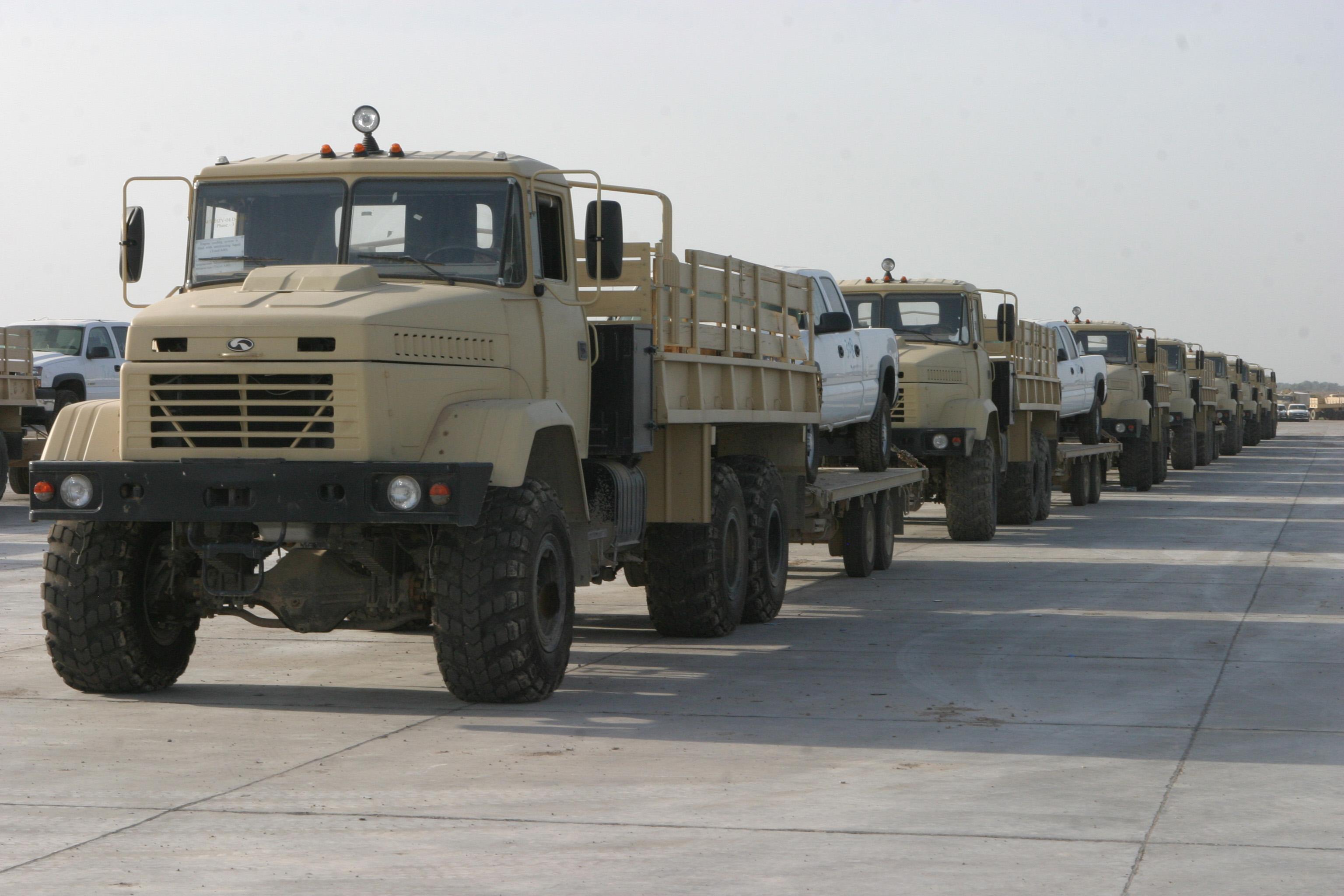 U.s Military Transport Vehicles File:Iraqi KrAZ trucks...