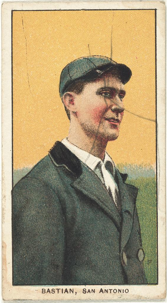 Filejack Bastian San Antonio Team Baseball Card Portrait
