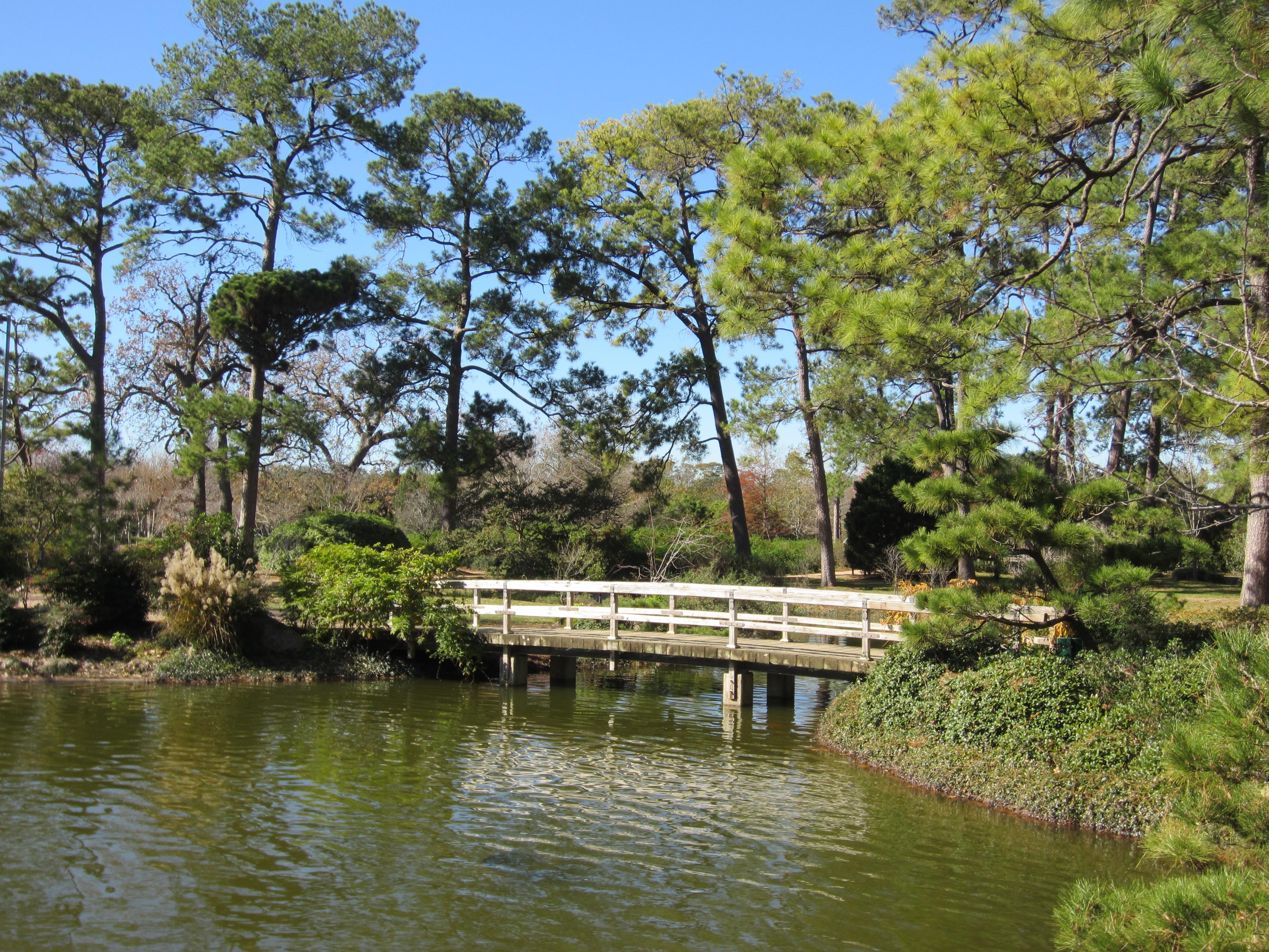 File Japanese Garden Hermann Park Houston Bridge In 2012 Jpg